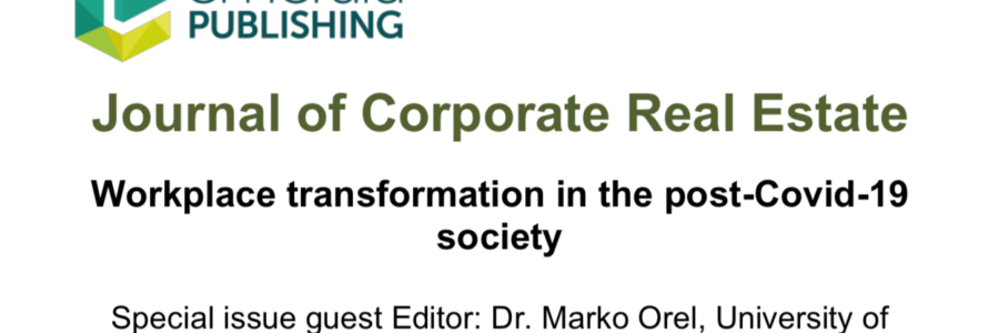 Call for Special Issue : Workplace transformation in the post-Covid-19 society